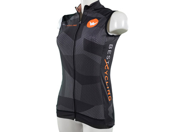 "Maillot de ciclismo indoor sin mangas ""Hexagon"""